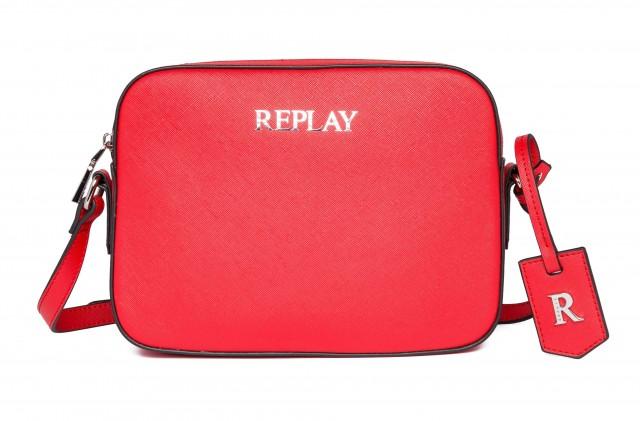 REPLAY Damen Umhängetasche FW3075 Saffiano Kunstleder Rot