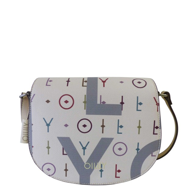 Oilily Jolly Letters Shoulderbag Shf Schultertasche Weiß