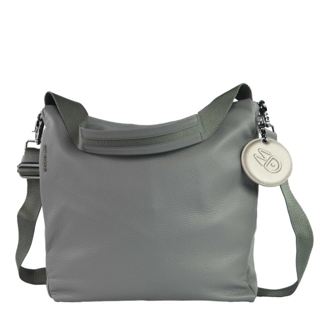 Mandarina Duck Mellow Leather Hobo Bag Umhängetasche Gargoyle FZT9508U