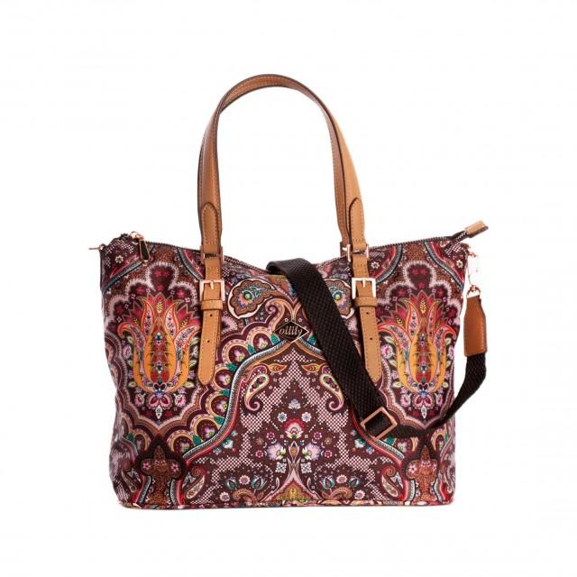 Oilily Paisley Handbag Coffee