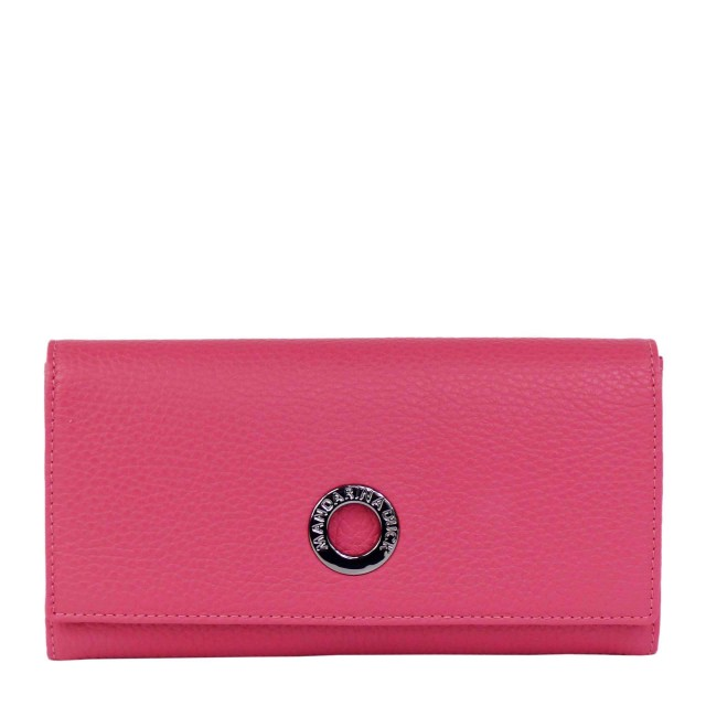 Mandarina Duck Mellow Leather Continental Wallet with Flap Claret