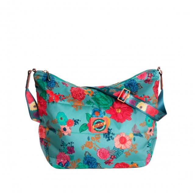 Oilily Colour Splash M Shoulder Bag Sea Breeze