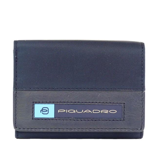 PIQUADRO PQ-BIOS Geldbörse PU4455BIO Blau