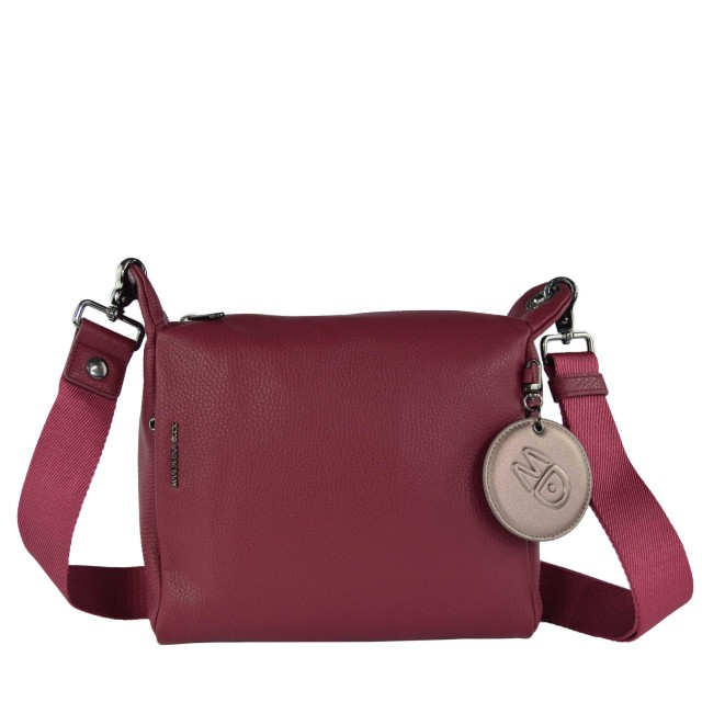 Mandarina Duck Mellow Leather Umhängetasche Red Plum FZT5222T