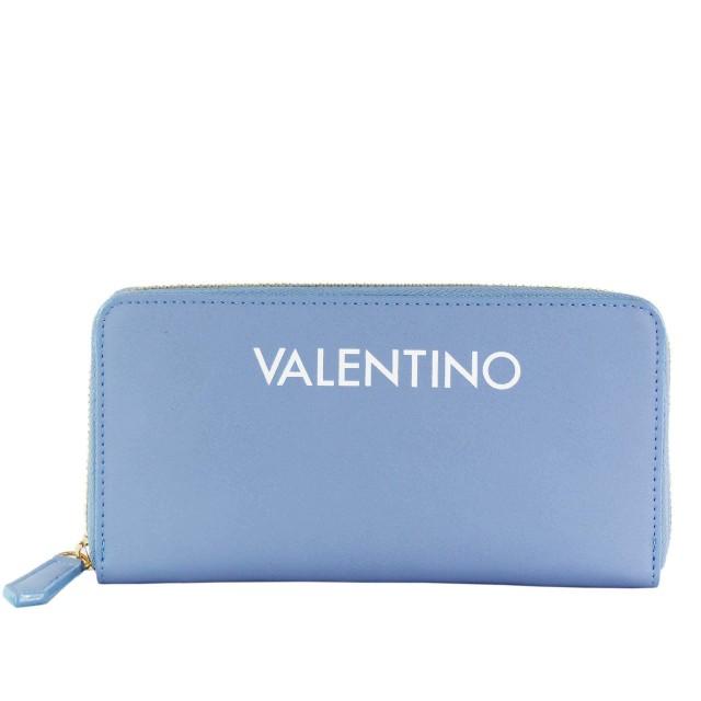 VALENTINO BAGS Masha Zip Around Wallet Geldbörse Blau Weiß