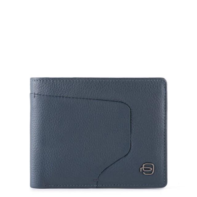 PIQUADRO Akron Geldbörse PU4823AOR mit RFID-Blocker Blau