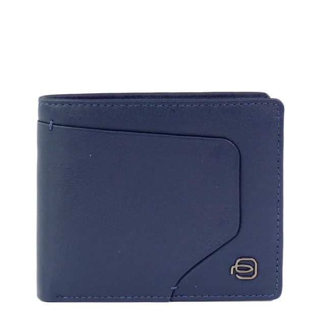 PIQUADRO Akron Geldbörse PU3891AOR mit RFID-Blocker Blau