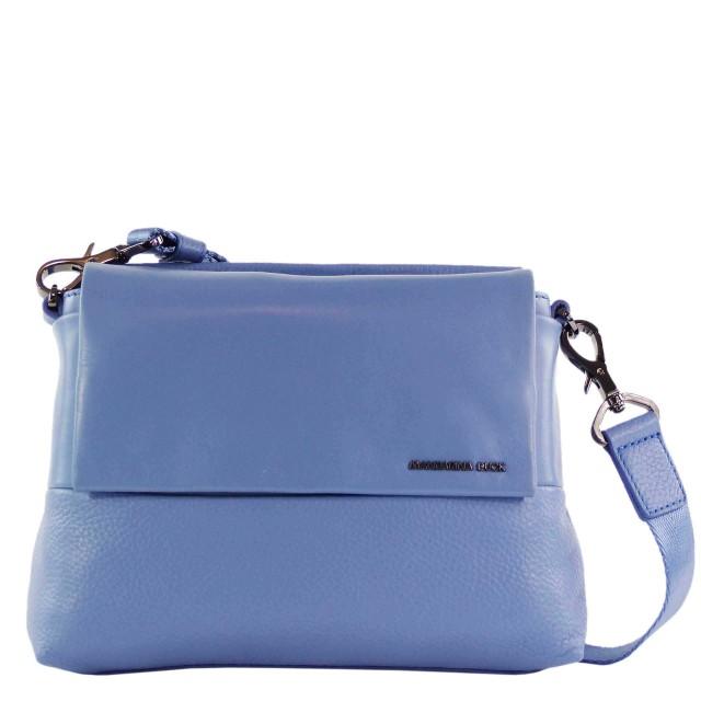 Mandarina Duck Athena Tracolla Leder Umhängetasche Blau