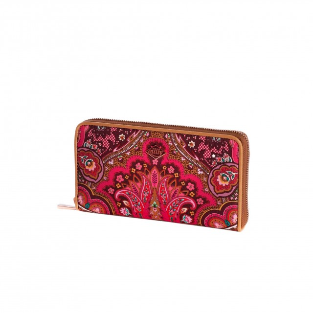 Oilily Paisley L Zip Wallet Cherry