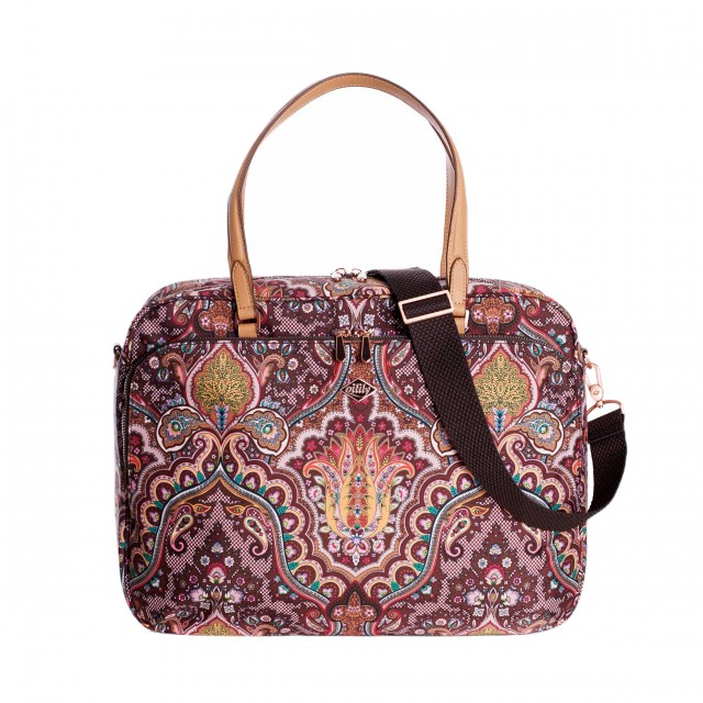 Oilily Paisley Office Bag Coffee