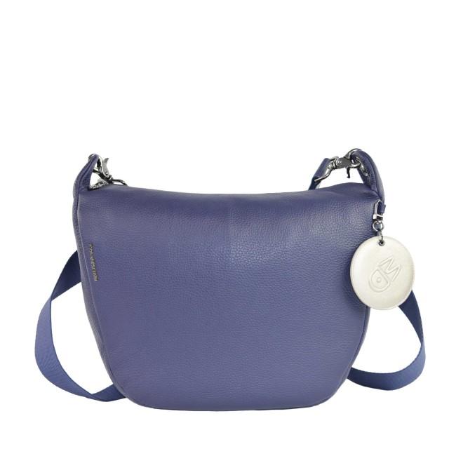 Mandarina Duck Mellow Leather Umhängetasche Dress Blue FZT5908Q