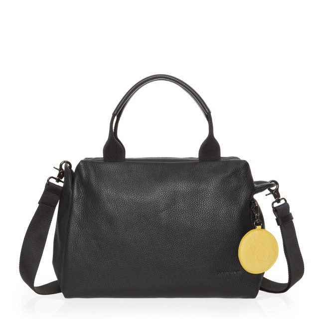Mandarina Duck Mellow Leather Boston Bag Nero FZT87001