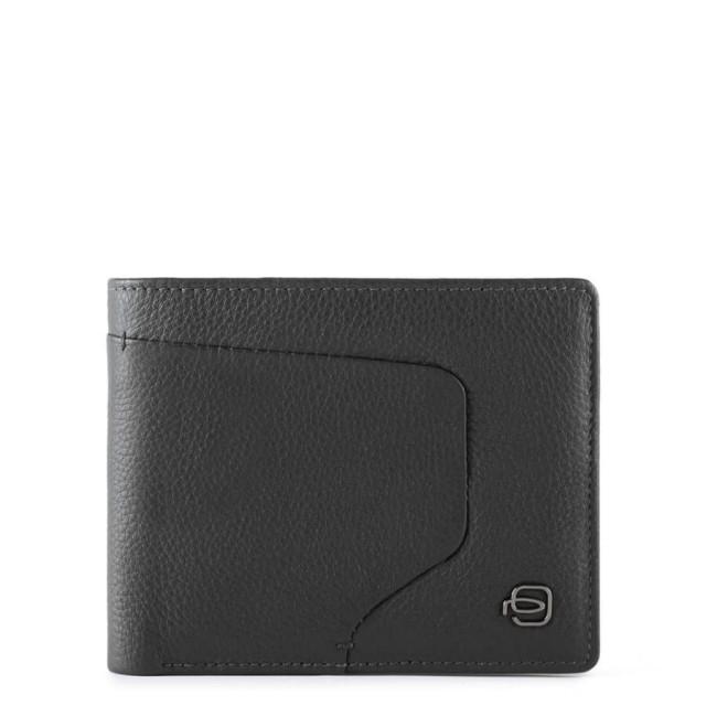 PIQUADRO Akron Geldbörse PU4823AOR mit RFID-Blocker Schwarz