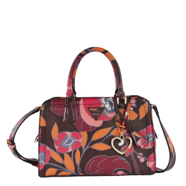 Guess Lyra Red Floral Handtasche