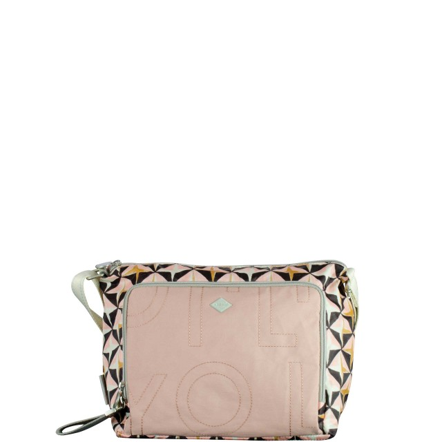 Oilily Charm Geometrical Shoulderbag Mhz Schultertasche Rose