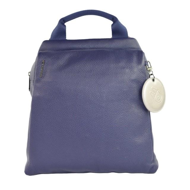 Mandarina Duck Mellow Leather Rucksack Dress Blue FZT6608Q