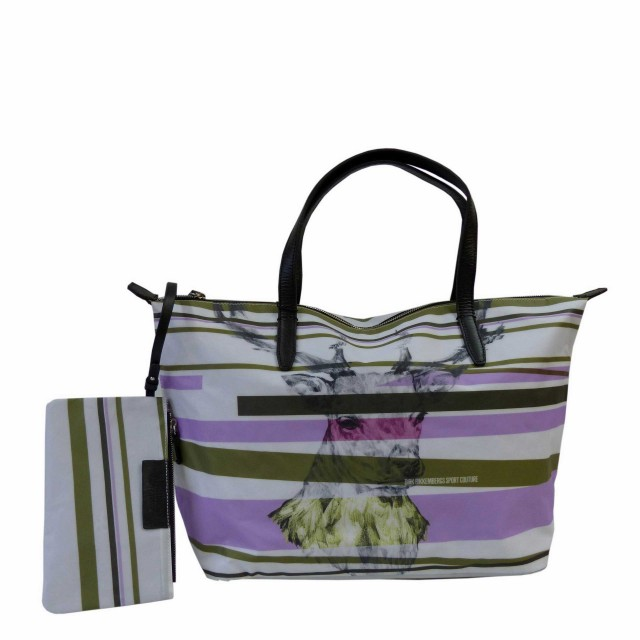 Bikkembergs Sport Couture Ice Shopper with Zip Stripes Deer 5BDD1602-D11