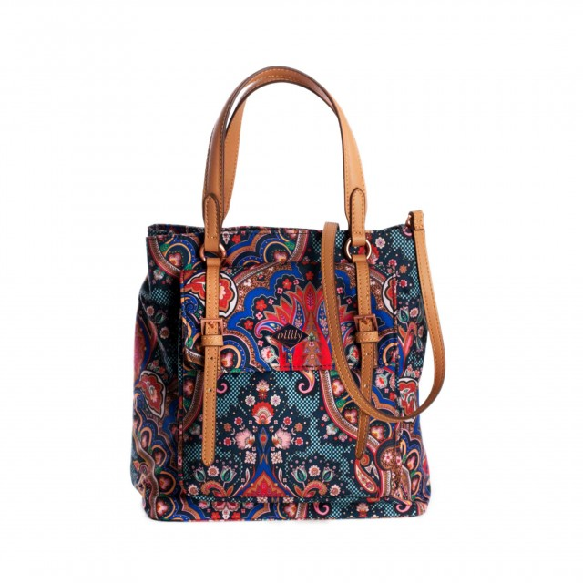 Oilily Paisley City Handbag Royal Blue