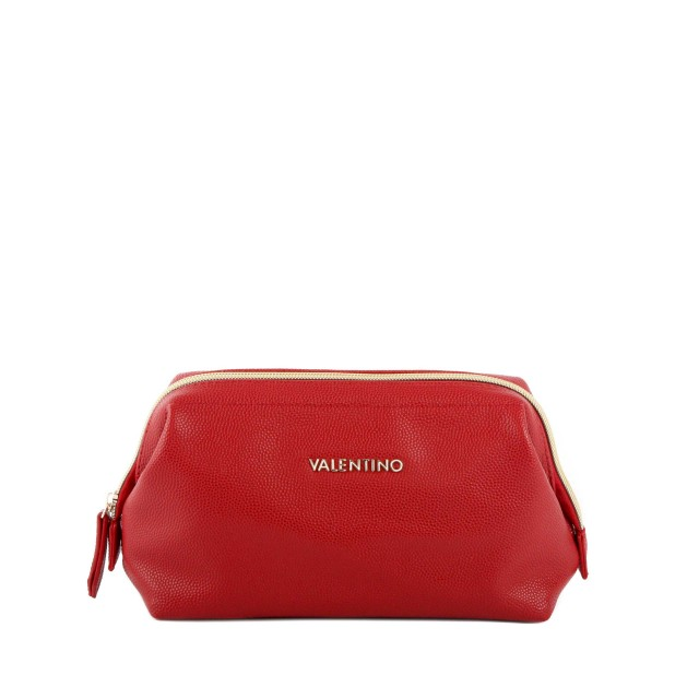 VALENTINO BAGS Globe M Soft Frame Pouch Rosso