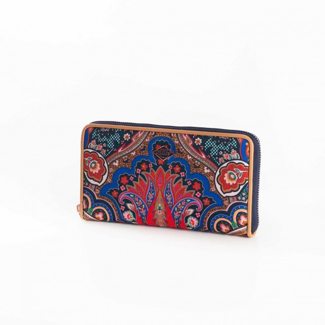 Oilily Paisley L Zip Wallet Royal Blue