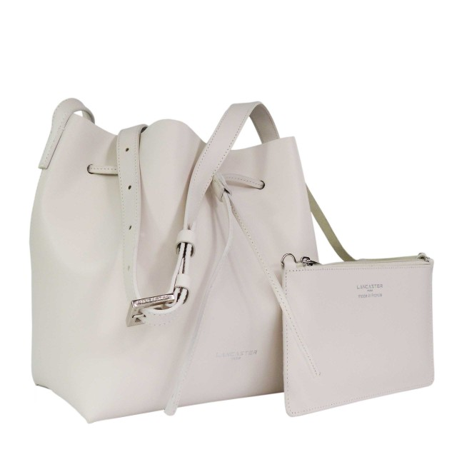 Lancaster Pur & Element Smooth Bucket Bag Ecru