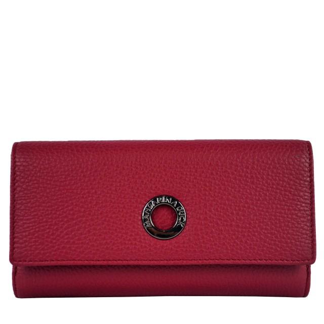 Mandarina Duck Mellow Leather Portemonnaie Red Plum FZP6322T