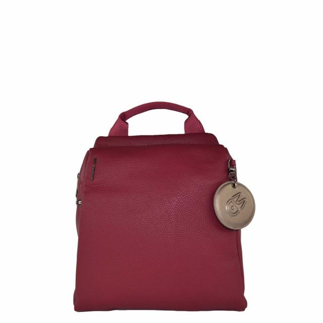 Mandarina Duck Mellow Leather Rucksack Red Plum FZT6622T
