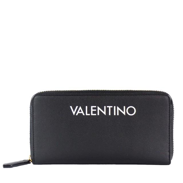 VALENTINO BAGS Masha Zip Around Wallet Geldbörse Schwarz Weiß