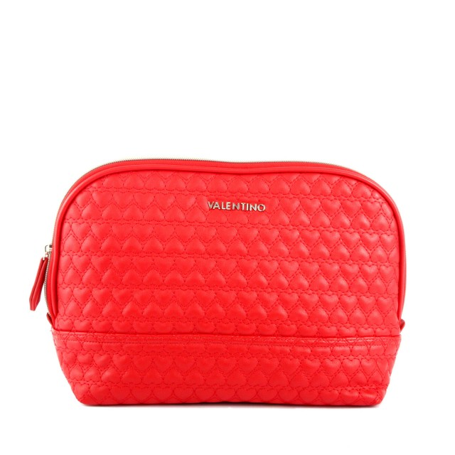 Valentino Golden M Toiletry Bag Rosso