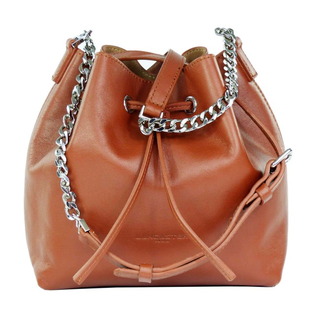 Lancaster Parisienne Treasure Bucket Bag Cognac