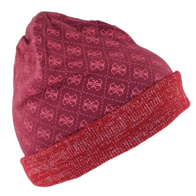 Guess Mütze Bordeaux AW6834WOL01-BOR
