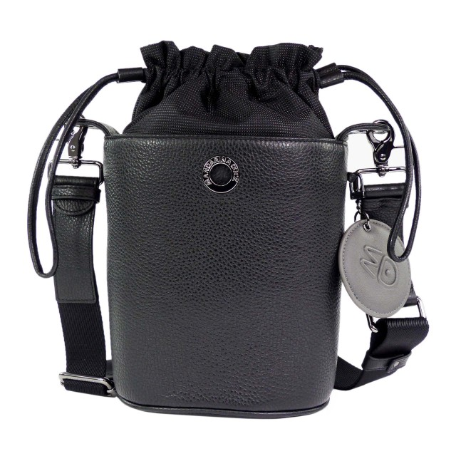 Mandarina Duck Mellow Leather Tracolla FZT29 Bucket Bag Nero