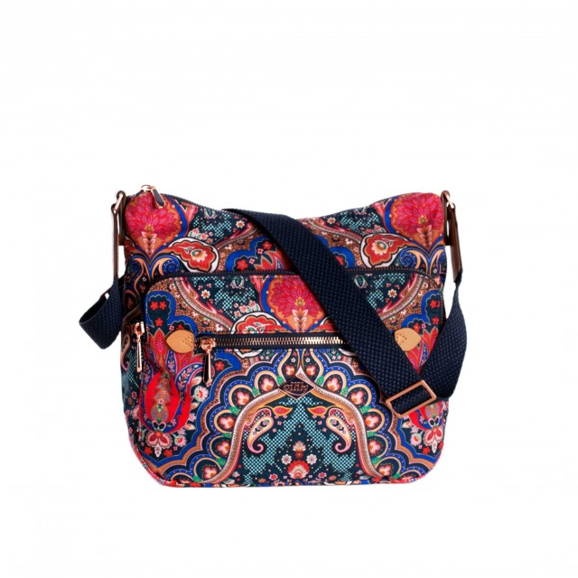 Oilily Paisley M Shoulder Bag Royal Blue
