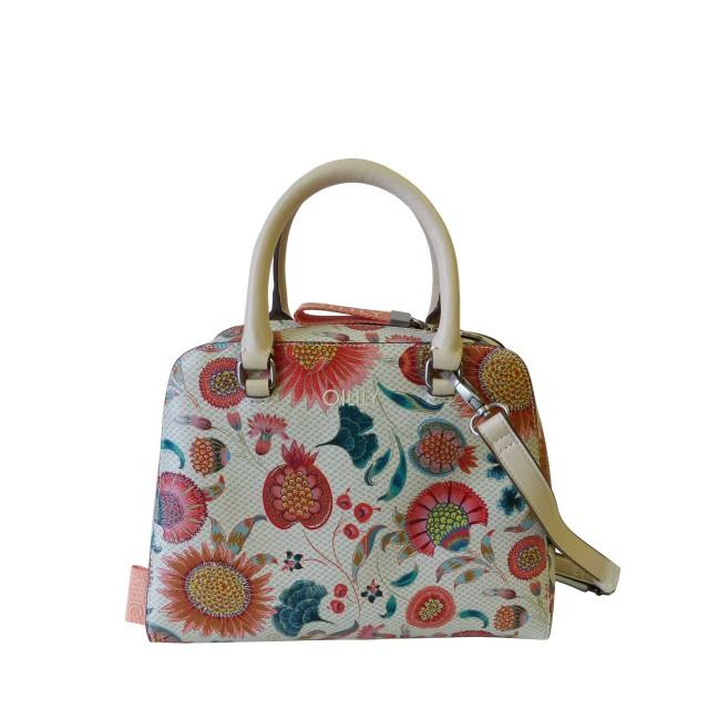 Oilily Jolly Sunflower Handbag Shz Handtasche Schultertasche Weiß