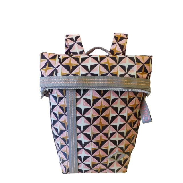 Oilily Lori Geometrical Backpack Mvf Rucksackhandtasche Rose