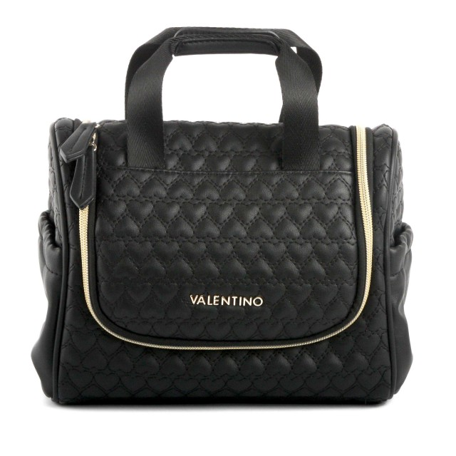 VALENTINO BAGS Golden Travel Kit with Hook Nero