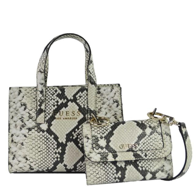 Guess Sienna Python Mini Handtasche