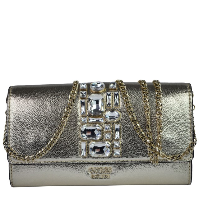 Guess Spring Fever Mini Clutch Gold HWMG730871