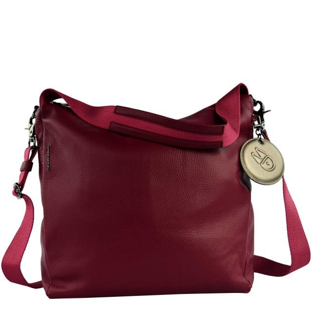 Mandarina Duck Mellow Leather Hobo Bag Umhängetasche Red Plum FZT9522T