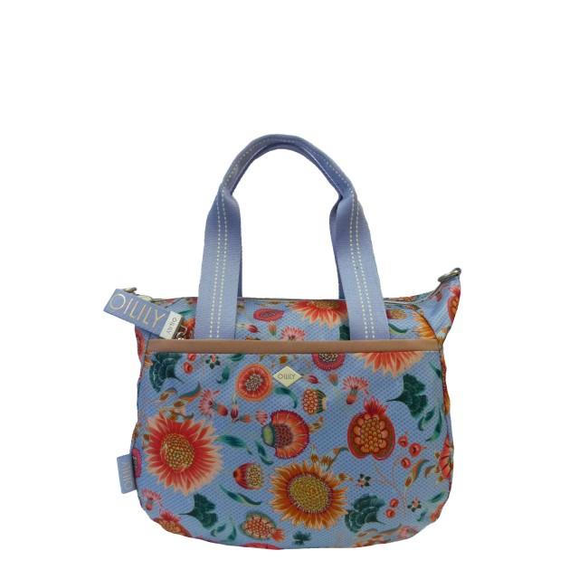 Oilily Groovy Sunflower Handbag Mhz Henkeltasche Blau