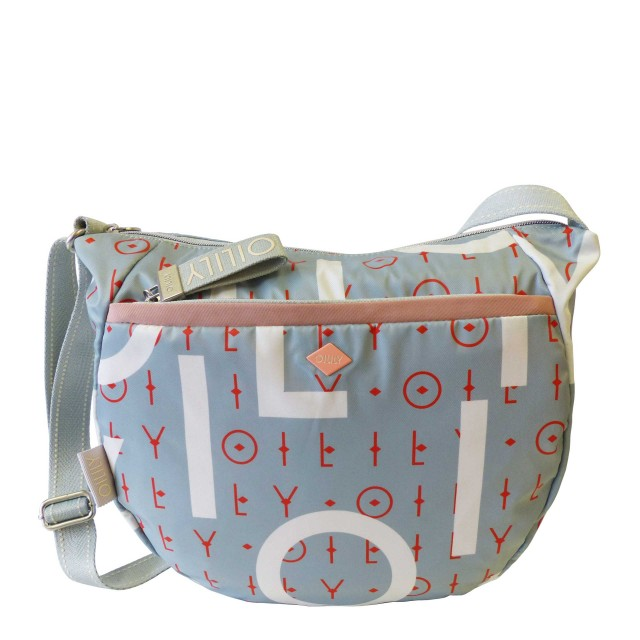 Oilily Groovy Letters Shoulderbag Lvz Schultertasche Blau