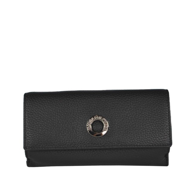 Mandarina Duck Mellow Leather Portemonnaie Nero FZP63001