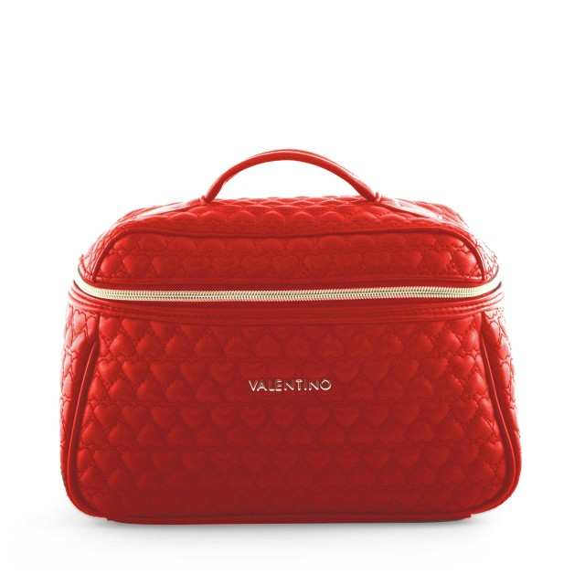 VALENTINO BAGS Golden Beauty Case Rosso