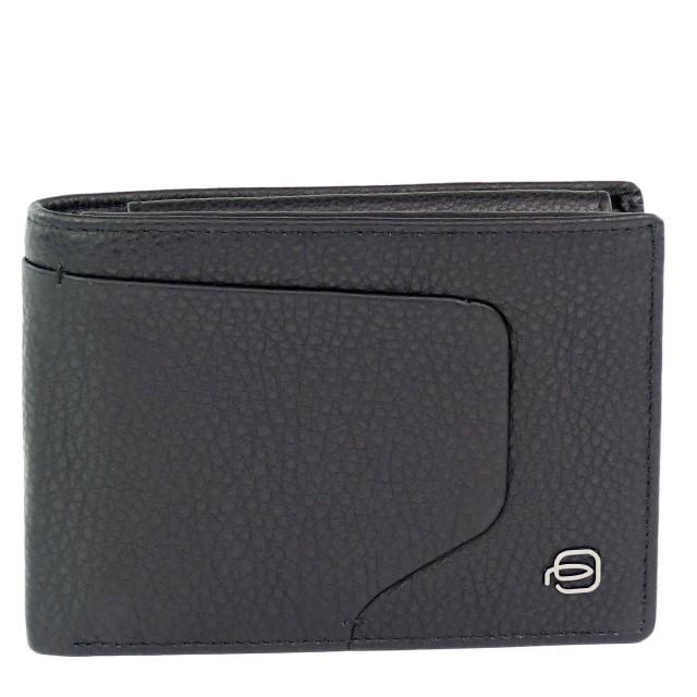 PIQUADRO Akron Geldbörse mit RFID-Blocker Schwarz