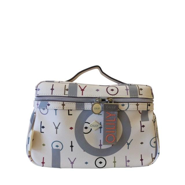 Oilily Jolly Letters Washbag Mhz1 Kulturtasche Weiß