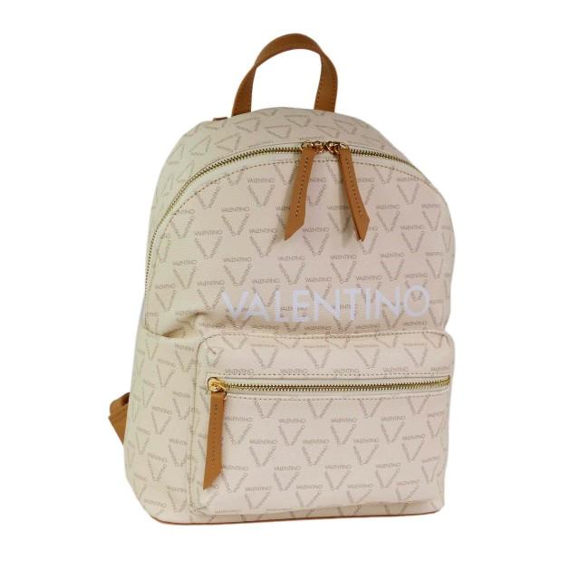 VALENTINO BAGS Damen Liuto Rucksack VBS3KG16 Ecru/Multi