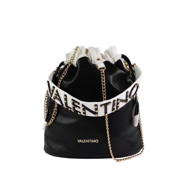 VALENTINO BAGS Damen Pakita Beuteltasche Schwarz Weiß
