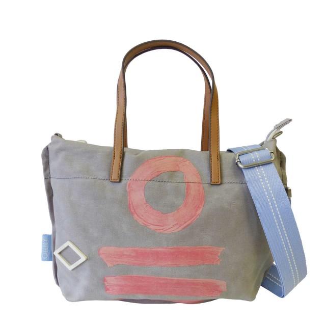 Oilily Fun Canvas Handbag Mhz Henkeltasche Grau