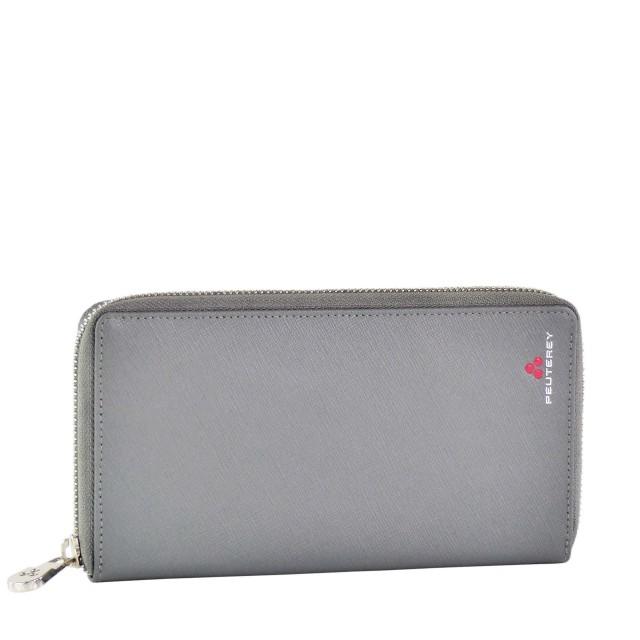 Peuterey Leder Geldbörse Wallet Grau ALDRINWAL - PTT0055