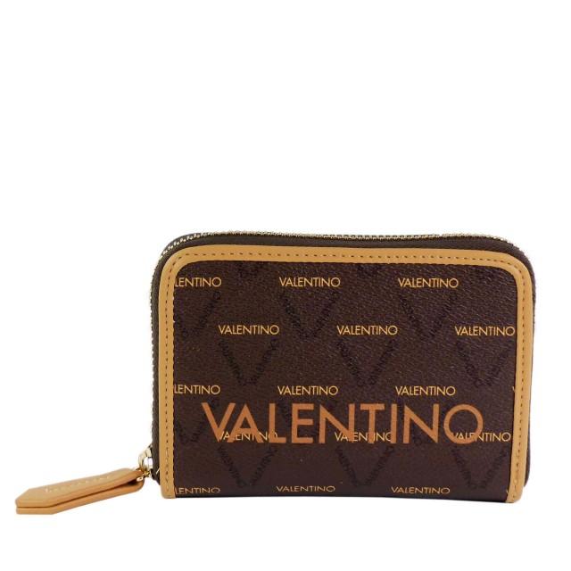 VALENTINO BAGS Damen Liuto Geldbörse VPS3KG137 Braun